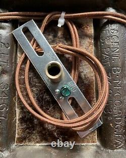 1920s Thistle Motif Rewired Pair Sconces Signed Crescent Co. Original Finish 87B