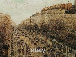 19th century French Impressionist Pairs, Le Boulevard, Montmartre Street Scene