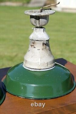 2 Crouse Hinds 12 Sign Globe Light Green Porcelain Industrial Gas Station Barn