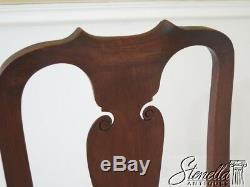 30098EC Pair WALLACE NUTTING Block Signed Walnut Chairs