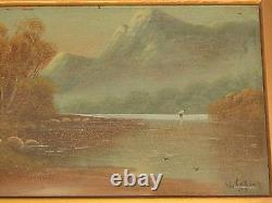A Pair Of Antique Oil Paintings On Board, Signed By W. Collins 1907