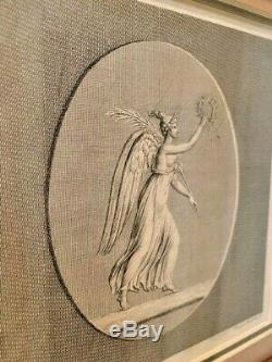ANTIQUE Pair of BEAUTIFULLY FRAMED Etchings or Engravings Historic Prints