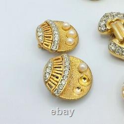 AS IS 6 pair EARRINGS LOT LES BERNARD VANITY DESIGNER JEWELRY RETRO MOD AS IS