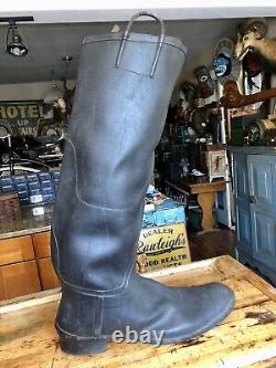 Antique Giant 3ft Rubber Boot Store Display Trade Sign, Plus Miniature Pair