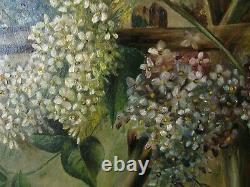 Antique Oil Painting A Pair of Birds on Canvas Artist Signed Carved Frame