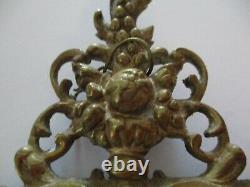 Antique Pair Clock Finial Sculpture Portrait Bronze Brass 19th Century Master