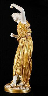 Antique Royal Worcester pair Greek figurines 1827 & 1828 Modelled James Hadley
