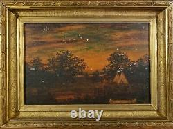 Antique oil paintings, framed, signed. BLAKELOCK Category IV. PAIR