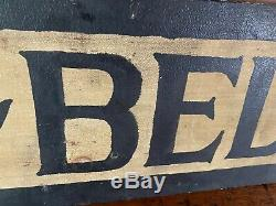 Awesome Antique Pair Of Early Painted Ad Signs Nice Folk Art Aafa