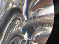 BACCARAT Paire de Bougeoir Modèle 1952 Antique French Crystal XX ème Signés