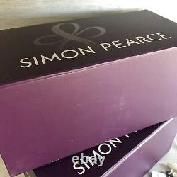 Brand New SIMON PEARCE Pair of Medium Hartland Candlesticks Signed with Gift Boxes