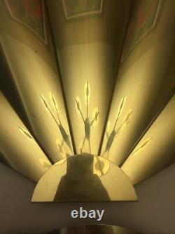 Brass Wall Fan Sculptures by Curtis Jere A Pair Model # 100704 Signed Dated