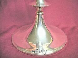 CARTIER Pair STERLING Silver Candle Stick Holders #296 Signed 4 ¾ Mid Century