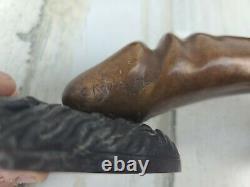 Carl Kauba Bronze Phallus Door Handles (Pair) Signed and Dated C. Kauba 1908