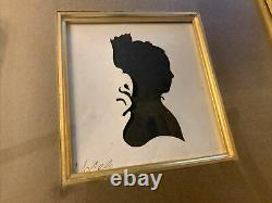 Early 19th century Pair Cut Silhouettes Man & Woman Signed & Prof Matted & Frame