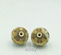 Fine Japanese Meiji Pair Of Satsuma Vases Signed