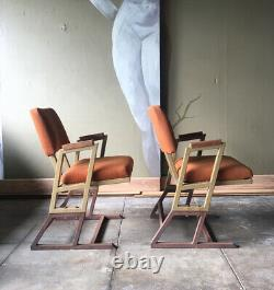 Frank Lloyd Wright Chairs, PAIR, From the Kalita Humphreys Theatre 1958, SIGNED