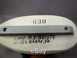 Great Pair Merganser Decoys signed Capt R. E. Belote Lewes DE &Willis Wharf VA