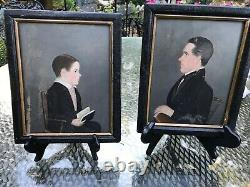 Jasper Miles Americana Portraits -Pair on Wood