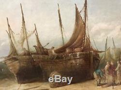 John Callow Original Maritime Oil Painting Signed Dated 1869 1 of a Listed Pair