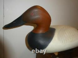 Madison Mitchell Pair Canvasback Duck Decoys, Vintage Signed 1970