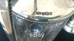 Mappin & Webb Silver Sterling Signed Antique Pitchers Wine Decanters PAIR