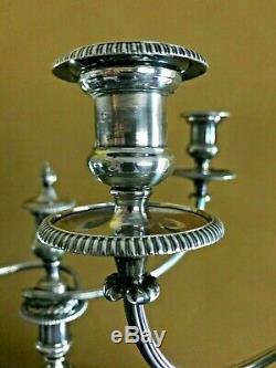 Matthew Boulton Pair Silver Sheffield Candelabra Circa 1810 Signed Museum Piece