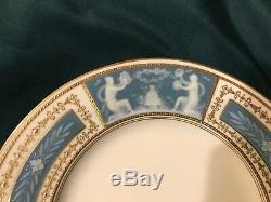 Minton pate sur pate pair of 10 1/4 inch plates signed Birks