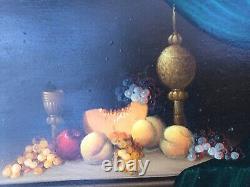 PAIR Still Life DUTCH Oil board PAINTINGS framed signed KALMAN KEMENY 1896-1994
