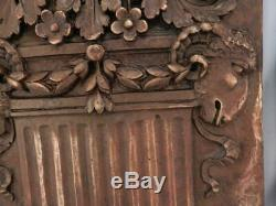 Pair Antique Bronze Metal Art Nouveau Architectural PlaquesColumnsGoats Head
