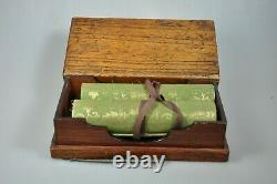 Pair Antique Japanese Manuscript Handpainted Handscrolls Scrolls Edo Japan