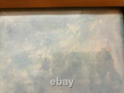 Pair Antique Marine Maritime Oil Painting Gilt Frames Glazed Signed