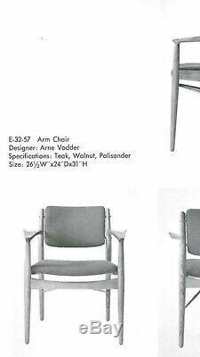 Pair Arne Vodder Signed Sibast Mobler Danish Modern Chairs Denmark Teak