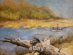 Pair Chalk/Colored Pencil Paintings/Drawings-Landscape-WI/VA Artist-Nice Detail