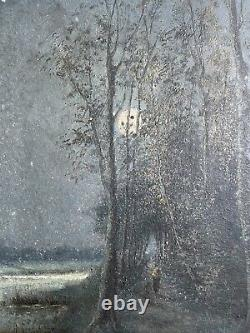 Pair Of Antique Oil Paintings, Moonscapes, Signed GYSELS 1895