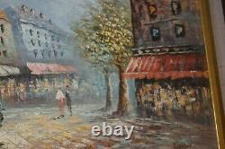 Pair Of Burnett Signed Impressionist French Scene Framed Oil Painting Vintage