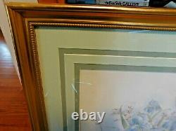 Pair Of M Bertrand Watercolors, 24 X 27, Double Signed And Limited Prints