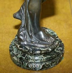Pair Of Original Signed Henri Dumaige 1830 1888 Bronze Statues Water Carriers