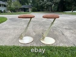 Pair Of steel Barstools By Curtis Jere C Jere Memphis Signed 1988