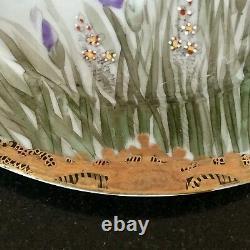 Pair Very Fine Satsuma Plates Meiji Period, Signed