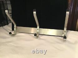 Pair Vintage Authentic Sign MID Century Modern Glaro Aluminum Coat Racks N. R