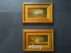 Pair of Antique Oil Paintings, Still Life, Framed, Signed, British, Original