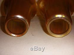 Pair of Antique Tiffany favrille art glass shades signed LCT