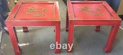 Pair of Chinoiserie Table Signed Retha Circa 1960