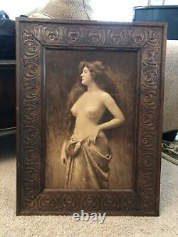 Pair of Circa 1901 Angelo Asti Photo Lithographic Prints in Original Frames