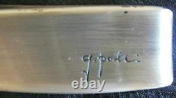Pair of Handle Door, Sculpture, Bronze Silver, Signed Maybe Gio Ponti