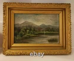 Pair of Lovely Antique Landscapes, Dated 1911 by Artist PRISEILLE