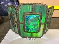 Pair of Original Authentic Tiffany Studios Turtleback Sconce Lamps Signed