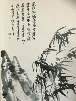 Pair of Original Vintage Chinese Oriental Watercolour Scroll Paintings 03