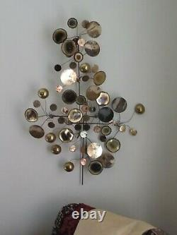 Pair of Signed C. Jere Raindrops Wall Sculptures Dated 1971